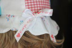 Sweet little sun hat #pickyourplum #personalizedribbon