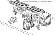 Lego Fire Truck Coloring Pages lego coloring pages   getcoloringpages