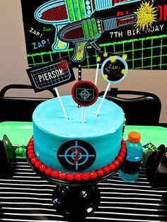 Boys Laser Tag Birthday Party Dessert Cake Ideas