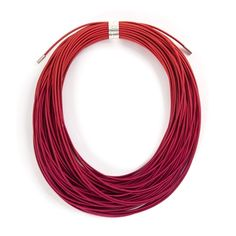 Ombre Ruby Coil Necklace | Contemporary Necklaces / Pendants by contemporary jewellery designer Gilly Langton