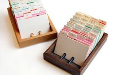 Cute idea for organizing creative ideas. create rolodex for cataloging my punches