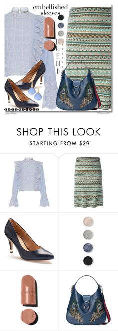 """""""Make a Statement: Embellished Sleeves"""" by octobermaze ❤ liked on Polyvore featuring Sea, New York, Emilio Pucci, Apt. 9, Terre Mère, Gucci, Bucherer and embellishedsleeves"""
