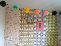 http://www.petraboase.com  bunting ball paper decoration in my daughter olives bedroom