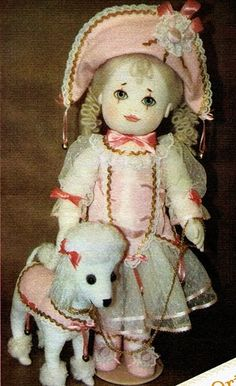 Textile doll with a dog. Pattern .. Discussion on LiveInternet - Russian Service Online Diaries