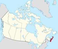 Map of Canada with Nova Scotia highlighted