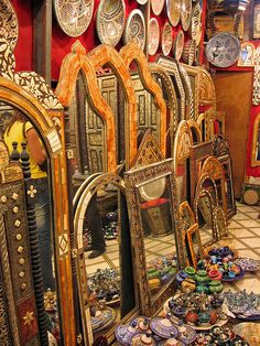 Mirrors - Marrakech... LOVE THESE MIRRORS...BUT, THEN, WHAT DO YOU EXPECT FROM SOMEONE BORN IN THE MIDDLE EAST/EAST AFRICAN AREA?...LOL...