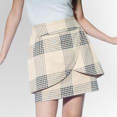 LAST+ONE!+Vintage+Look+Tulle+Anthropologie+PLaid+Tulip+Skirt+Fashion