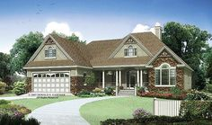 Ranch House Plan with 1668 Square Feet and 3 Bedrooms from Dream Home Source | House Plan Code DHSW075787
