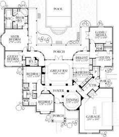 Browse nearly ready-made house plans to find your dream home today. Floor plans can be easily modified by our in-house designers. Dream House Plans, House Floor Plans, My Dream Home, Dream Homes, The Plan, How To Plan, Plan Plan, Traditional House Plans, House Layouts