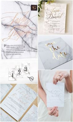 Ideas and Inspiration For Your Marble Themed Wedding                                                                                                                                                                                 More