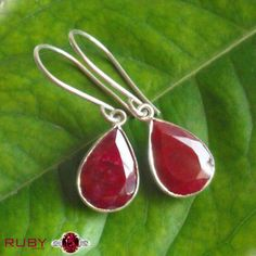 Shop for natural Ruby Manik gemstone at affordable price in India for astrology benefits. Place online order for Ruby stone from best online store. Check ruby price, value, benefits, wearing methods. Ruby Earrings, Teardrop Earrings, Gemstone Earrings, Sterling Silver Earrings, Dangle Earrings, Silver Jewelry, Ruby Stone, July Birthstone, Handmade Rings