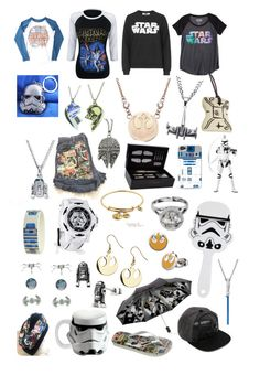 """""""Ultimate star wars closet"""" by cyborgpuppyprincess ❤ liked on Polyvore featuring Havaianas, Topshop, Junk Food Clothing, R2, Vandor, ASOS, Episode, S.T. Dupont and Hybrid"""