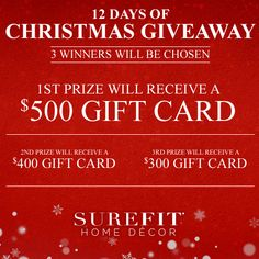 SureFit 12 Days of Christmas Giveaway