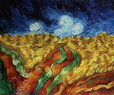 Vincent Van Gogh: Campo de trigo con cuervos, 1890.