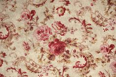 Antique French Fabric Romantic Rococo Design... this is what I'd love to have my sofa recovered in!!!