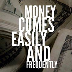 Money comes to me quickly, easily and frequently. I love money and money loves Wealth Affirmations, Positive Affirmations, Positive Life, Positive Thoughts, Lottery Winner, Healing Words, Abraham Hicks Quotes, Think And Grow Rich, Manifesting Money
