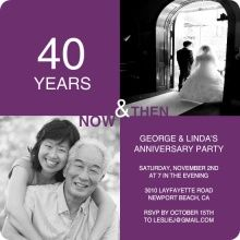 Choose from our collection of anniversary invitations and wedding anniversary invitations. PurpleTrails online design tool makes it easy to create anniversary invitations to kick off a celebration of love. 20 Year Anniversary, 30th Wedding Anniversary, Parents Anniversary, Anniversary Invitations, Anniversary Parties, 40th Party Ideas, Wedding Ideas, Wedding Scrapbook Pages, How To Memorize Things