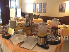 Rich breakfast for the guests Table Settings, Breakfast, Morning Coffee, Place Settings, Tablescapes
