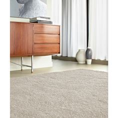 Pull style and texture from household objects. A fluffy rug adds a soft touch.