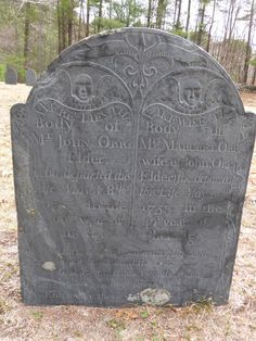 Nutfield Genealogy: Tombstone Tuesday ~ John and Margaret Orr, Bedford, New Hampshire, 1755 and 1753