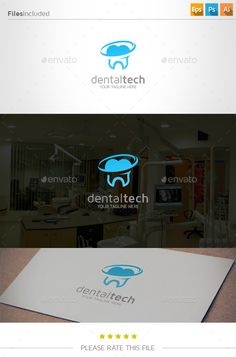 Buy Dental Logo by Exe-Design on GraphicRiver. Font used: - maven pro Files included: - vector file - AI, EPS, PSD Vector Logo Design, Logo Design Template, Logo Templates, Branding Design, Dental Logo, Medical Logo, Teeth Logo, Abstract Logo, Creative Icon