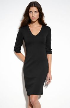 St. John Collection V-Neck Milano Knit Dress available at #Nordstrom