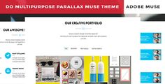 Do Corporate Parallax Muse Template is a finely crafted Muse theme, with a clean ultra-modern design for easy customization. Developed and decoded using MUSE CC 2014 the theme adds a real definition in telling your tale with style.