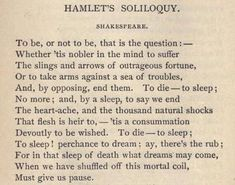 The most infamous of Hamlet's speech is this particular soliloquy.This was a decision we had both contemplated for much time though during separate occasions. This soliloquy exaggerates Hamlet's confusion and indecisiveness in the story as he goes over ev