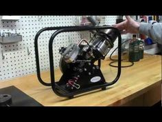 This video shows the developmental progress of a high-performance Stirling engine intended to power an electrical generator. The goal is to have a propane-fu...
