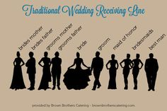 Ever wonder what a traditional wedding receiving line looks like? Check out our graphic to find out! Wedding Tips, Diy Wedding, Wedding Ceremony, Wedding Stuff, Wedding Planning, Wedding Day, Wedding Receiving Line, Silver Winter Wedding, Etiquette And Manners