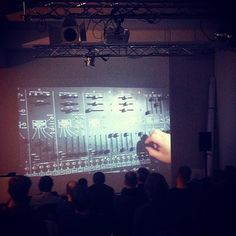 Cinema night @ Ableton HQ. On the program: 'I dream of wires' #modularsynth #analogue #modulars #ableton #abletonlive #berlin #facebookgiveaway #abletons by ableton