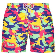 ARTHUR Coloury Camo Swim Shorts - Bluemint.com