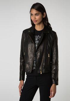 POLINO - Leather jacket - black