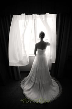 Wedding Photography Ideas-note to self.....have window available with white flowing curtains :)