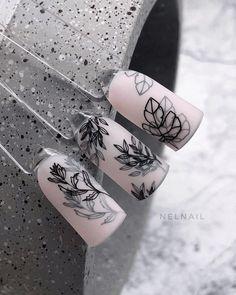 Black Acrylic Nails, Simple Acrylic Nails, Almond Acrylic Nails, Simple Nails, Rose Nails, Oval Nails, Pink Nails, Perfect Nails, Gorgeous Nails