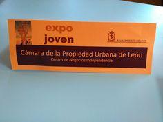Cámara de la Propiedad Urbana de León y  Centro de Negocios Independencia participan en el  25 aniversario EXPOJOVEN 2015 como entidades de apoyo al emprendimiento y fomento del empleo entre los jóvenes. Organiza el evento el Ayto de León