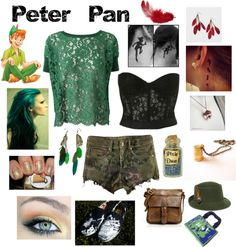 """Punk Rock Peter Pan Outfit"" by casey-carpenter on Polyvore"
