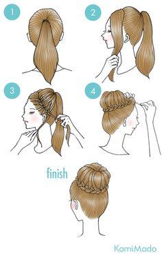 Penteado super fácil e muito bonito, para se fazer sozinha e arrasar em um fds ou no dia a dia