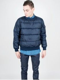 Rocky Mountain Featherbed Down Pullover Navy