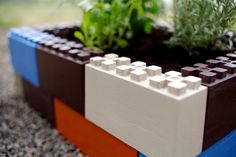 TogetherFarms colorful interlocking blocks are like Legos for creating raised bed #gardens #planters #gardening