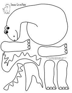 Printable Cut And Paste Worksheets For Kindergarten Dinosaurs Preschool, Dinosaur Activities, Dinosaur Crafts, Preschool Learning Activities, Preschool Crafts, Toddler Activities, Preschool Activities, Fun Learning, Dinosaur Cut Outs