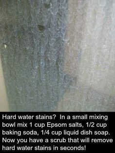 Hard water stains in the glass shower doors. Haven't tried this one yet...