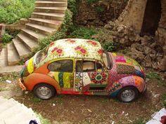 hippy floral car