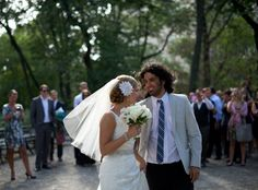 Susan and Justin just after saying their vows at their Central Park wedding.  www.scottwbaker.com