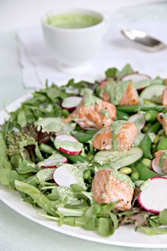 Salmon and Spring Vegetables Salad