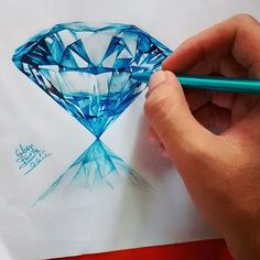 Diamond drawing by Gem Drawing, Diamond Drawing, Diamond Art, Jewellery Sketches, Jewelry Drawing, Jewelry Art, Pencil Art Drawings, Art Sketches, Jewel Tattoo