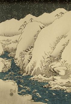 Hiroshige [木曽路之山川 / Mountain and River on the Kiso Road