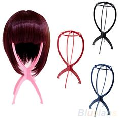 New Folding Plastic Stable Durable Wig Hair Hat Cap Holder Stand Display Tool 01OG 4MXH