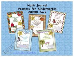 Math Journal Prompts for Kindergarten COMBO Pack from TeacherTam on TeachersNotebook.com (384 pages)