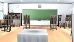 classroom mmd stage anime background episode interactive backgrounds scenery club deviantart yandere simulator rooftop 3d manga academy animation drawing virtual